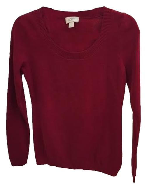 Preload https://item1.tradesy.com/images/ann-taylor-loft-red-sweaterpullover-size-6-s-1634570-0-0.jpg?width=400&height=650