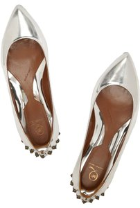 MCQ by Alexander McQueen Studded Silver Flats