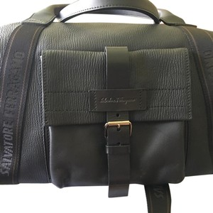 Salvatore Ferragamo Black Travel Bag