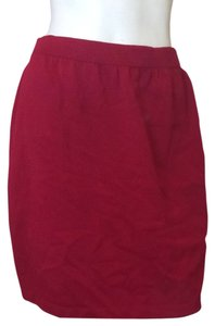 St. John Red Red Skirt