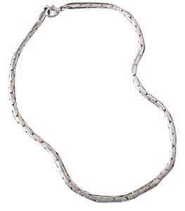 Unknown Unisex Choker, Large Silver Link
