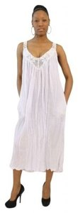 AFRO-FUSION short dress WHITE Summer Summer Vestido Blanco Beach Pool African Style Cotton Gauze Fabric Sexy Spring on Tradesy