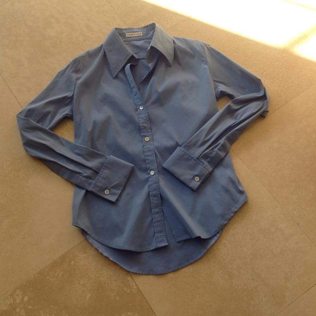 Item - Rich Oxford Blue French Cuffs Button-down Top Size 2 (XS)