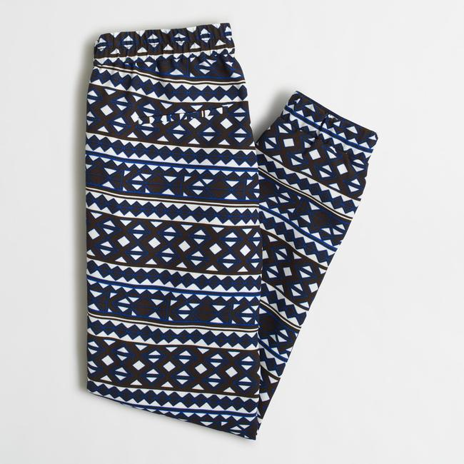 J.Crew Relaxed Pants Ember Geo