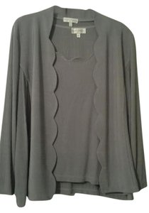 Draper's and Damon's Womens Tops Women's Tops Women's Blouses Women's 2-piece Tops Dressy Tops Dressy Blouses Top Silver
