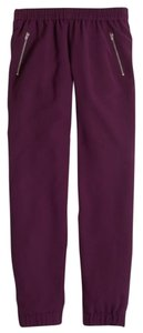 J.Crew Relaxed Pants Deep Burgundy