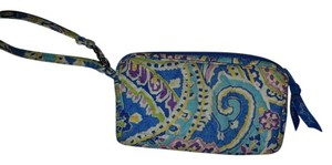Vera Bradley Pink Green Wristlet in Blue