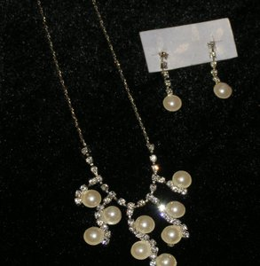 2pc Rhinestone Prom/wedding Necklace Set Free Shipping
