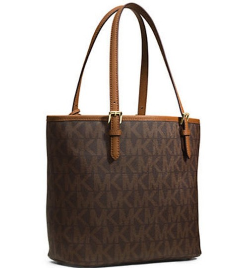 Michael Kors Jet Set Item Pocket Ote Jet Set Travel Tote in Brown Gold tone