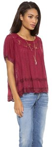 Free People Boho Peasant Dandelion Top Merlot