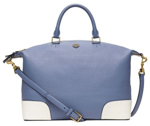 Tory Burch Satchel in Blue & White