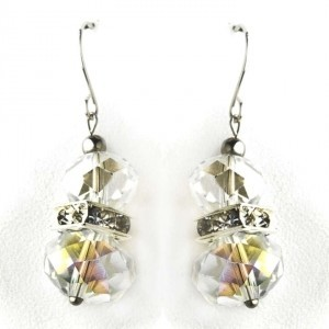 Clear Crystal Earrings **three Sets Available