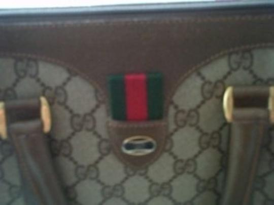 Gucci Vintage Leather Satchel in Brown