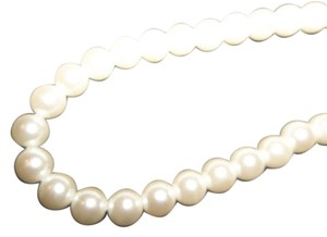 Faux Pearl Necklace, White