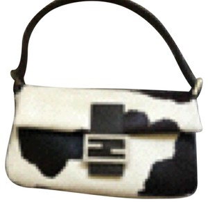 Fendi Black/White Clutch