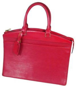 Louis Vuitton Satchel in Red Black