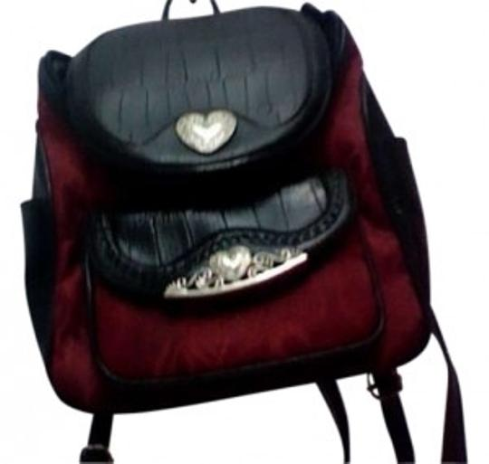 Preload https://item5.tradesy.com/images/red-and-black-leather-backpack-163524-0-0.jpg?width=440&height=440