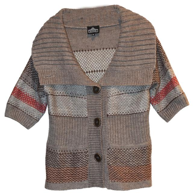 Preload https://item1.tradesy.com/images/angie-tan-with-stripes-cardigan-sweaterpullover-size-8-m-1635315-0-0.jpg?width=400&height=650