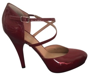 Via Spiga High Heels Patent Leather Red Pumps