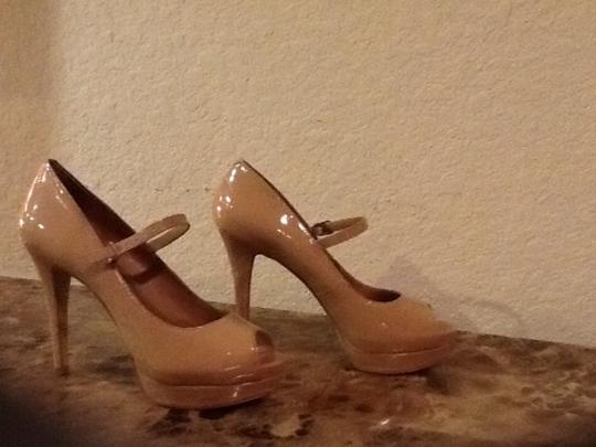 BCBG Paris Tan Platforms