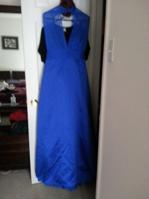 Item - Royal Blue Satin Style 81441 Modern Bridesmaid/Mob Dress Size 18 (XL, Plus 0x)