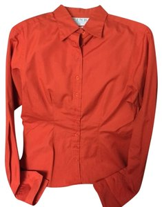 Thomas Pink Button Down Shirt Orange