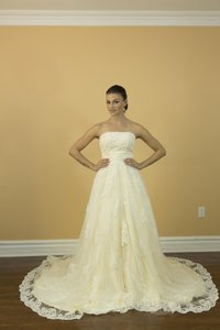 Handmade Sweetheart Applique A Line Floor Length Champagne Wedding Dresses Wedding Dress
