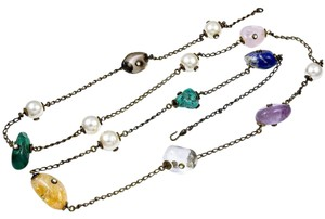 Chanel Rare Chanel Semi Precious Stone Long Necklace