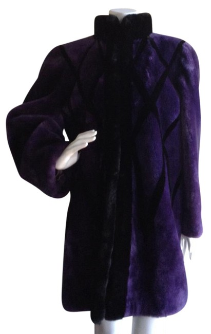 Item - Purple Fourrure Shearling Coat Size 10 (M)