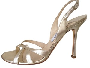 Jimmy Choo Gold Heels pale gold Formal