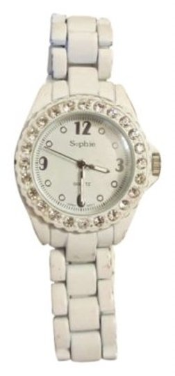 Sophie White and Rhinestone Watch