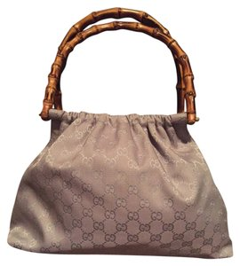 Gucci Bamboo Exotic Canvas Hobo Bag