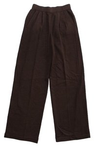 St. John Santana Knit Relaxed Pants Brown