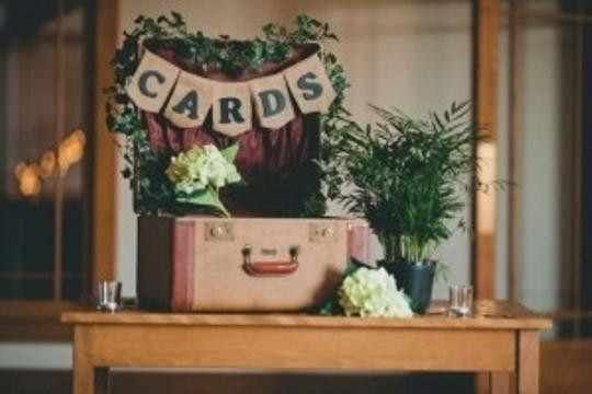 Vintage Suitcase (Card Box) Reception Decoration