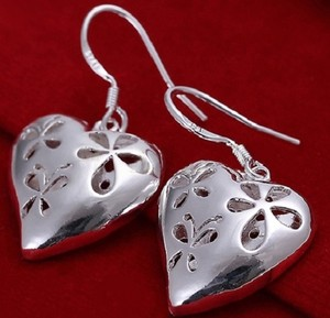 Other BNWT ~ Serling Silver Filigree Heart Earrings. 925 Silver