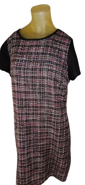 Preload https://img-static.tradesy.com/item/16360768/banana-republic-black-and-pink-tweed-knee-length-workoffice-dress-size-12-l-0-1-650-650.jpg
