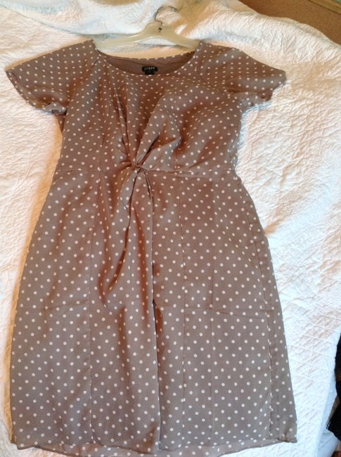 J.Crew short dress Tan with white polka dots on Tradesy