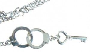 Claire's Handcuff and Key Necklace