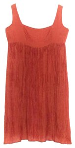 Chan Luu short dress Orange Silk Empire Full Wide Neck on Tradesy
