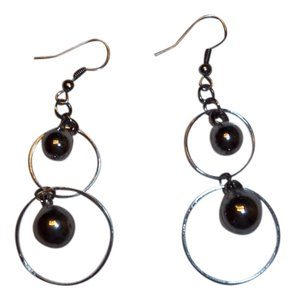 Silver Ball/Hoop Earrings
