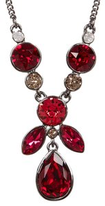 Givenchy Swarovski elements red Crystal, Y Frontal Necklace