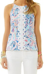 Lilly Pulitzer Top Multi Shell Me About It