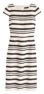 J.Crew Work Striped Lined Fitted Dress