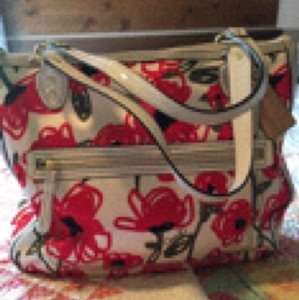 Coach Tote in Cream and Red