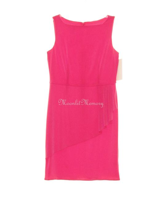 Preload https://img-static.tradesy.com/item/16362991/boston-proper-pink-l-large-peplum-sheath-pencil-knit-short-workoffice-dress-size-14-l-0-2-650-650.jpg