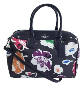 Coach Large Floral Satchel Cross Body Bag