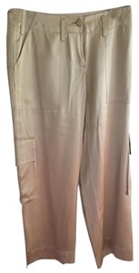 Tommy Hilfiger Silk Cargo Pants Gold
