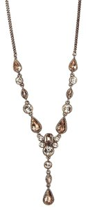 Givenchy Swarovski elements crystals in rose gold Tone Y Necklace