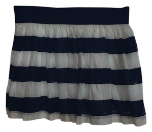 Abercrombie & Fitch Skirt navy and white
