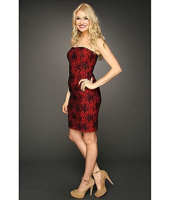 French Connection Fcuk Strapless Luxury Lace 0 Dress